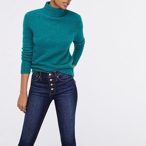 NEW J. Crew Mockneck Sweater in Supersoft Yarn S